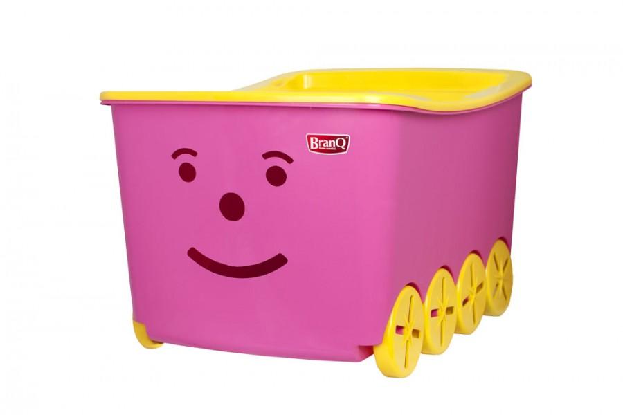 44e1634fb Plastové výrobky děti Smiley - dětský pojízdný úložný box s víkem ...